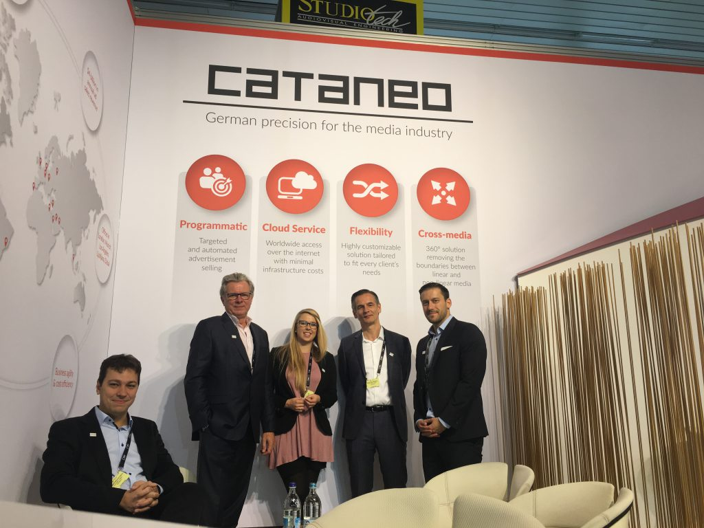Cataneo team at IBC - Renato Rocha Pinto, Robin Gould, Ria Müller, Martin Gerull, Andreas Föhringer